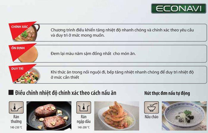 Tìm hiểu về công nghệ Econavi trên bếp từ Nhật có lợi ích gì?